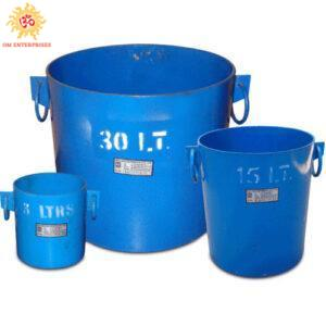 Bulk Density Cylindrical Metal Measures Set